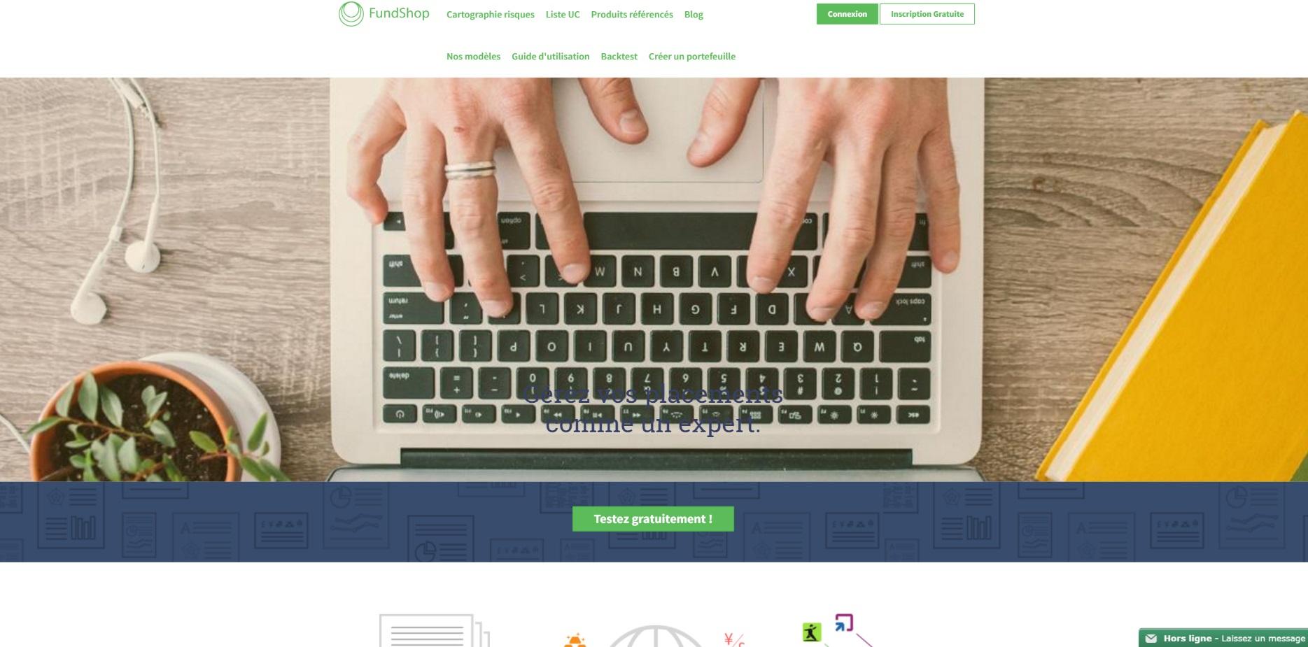 Page d'accueil Fundshop