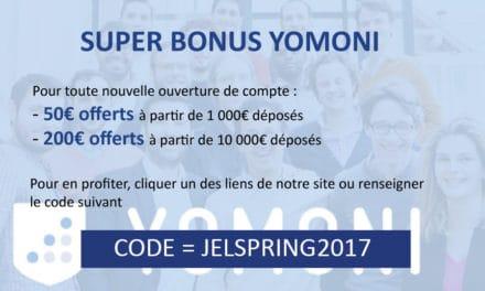 Profitez de notre code promo et parrainage Yomoni !