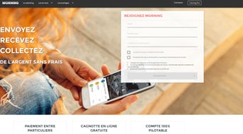 morning banque mobile - site internet