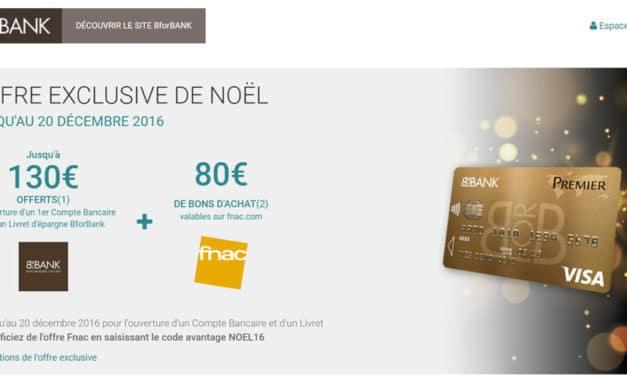 BforBank : Jusqu'à 210€ offerts pour Noël !