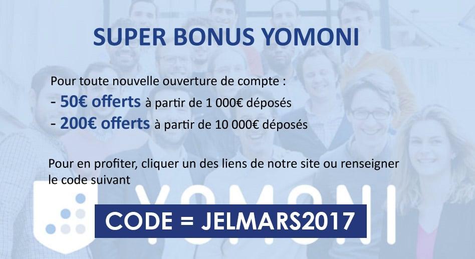 code promo Yomoni