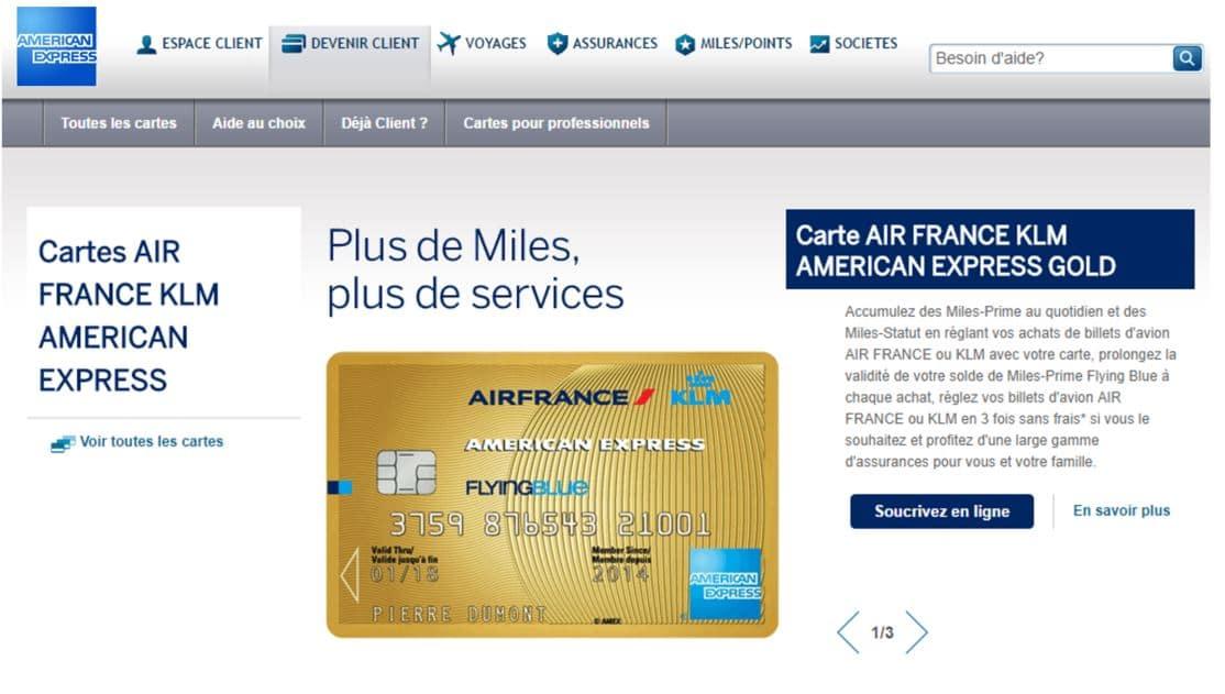 transfert argent en ligne par carte klm