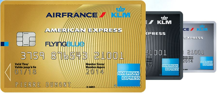 cartes air france KLM american express