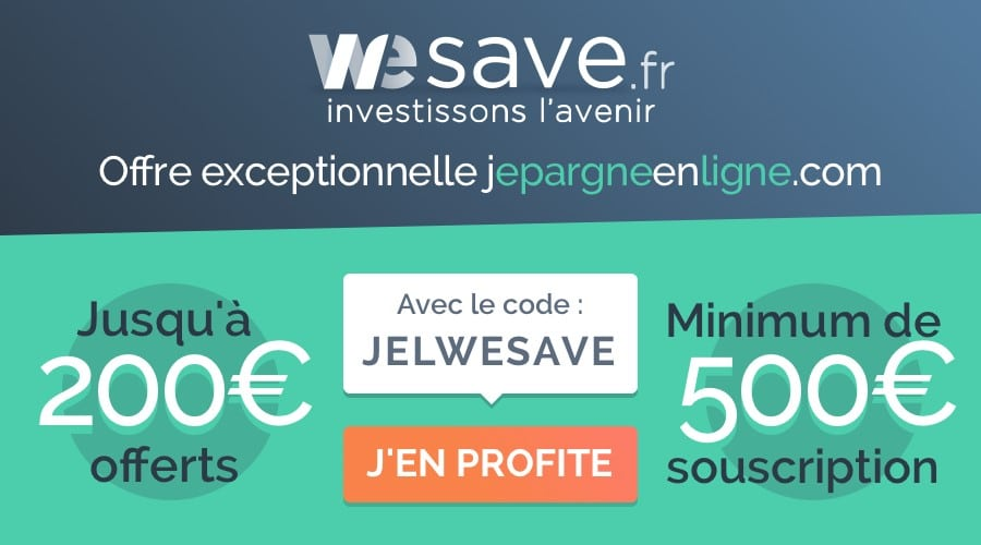 Offre Promo Wesave