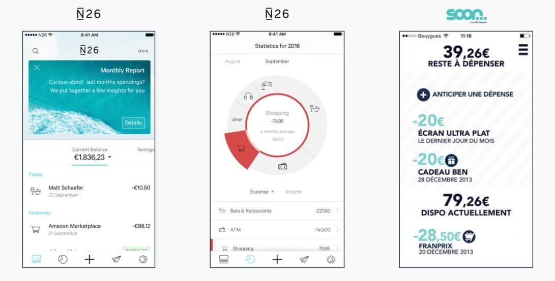 banques mobiles - fonctionnalités 1