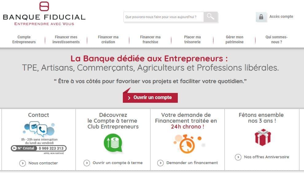 Banque Fiducial : notre avis sur la banque des entrepreneurs