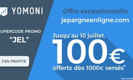 SUPER CODE PROMO YOMONI du 3 au 10 juillet 2017