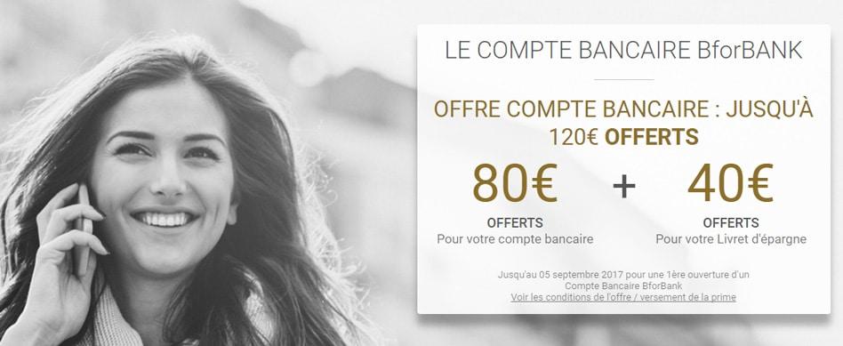 Bforbank offre exceptionnelle : 120€ offerts jusqu'au 5 septembre !