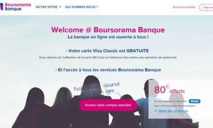 L'offre Welcome Boursorama sans condition de revenus devient gratuite !