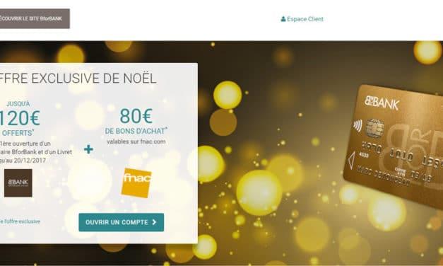 BforBank : Jusqu'à 200€ offerts pour Noël !