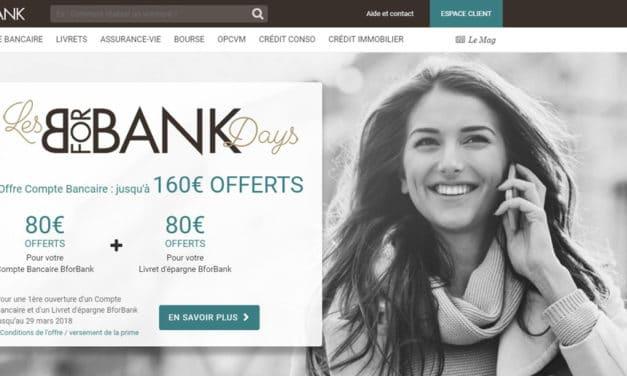 BforBank offre exceptionnelle : jusqu'à 160€ offerts