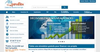 Page d'accueil Altaprofits
