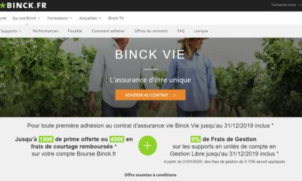 Lancement de Binck Vie, la première assurance-vie du groupe BINCK !