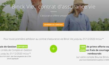 Binck Vie : le contrat d'assurance vie de Binck