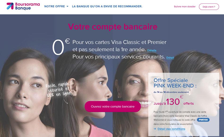 Boursorama offre exceptionnelle : 130€ offerts du 14 au 18 Décembre !