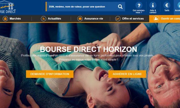Lancement de Bourse Direct Horizon, l'assurance vie de Bourse Direct
