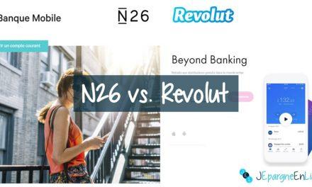 Revolut ou N26 : Comparaison entre les banques N26 et Revolut