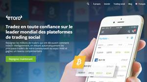 image du site etoro, la plateforme de trading social