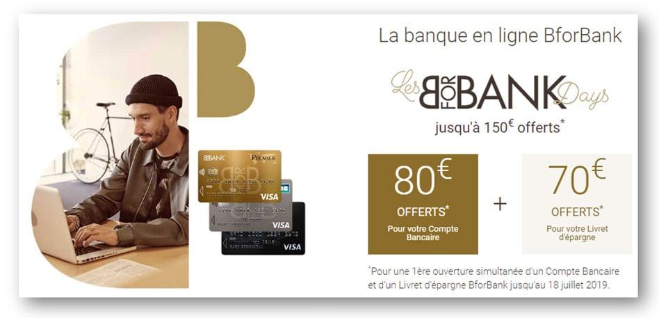 BforBank offre exceptionnelle : jusqu'à 150€ offerts