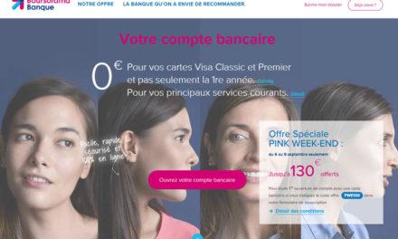 Boursorama offre exceptionnelle : 130€ offerts du 6 au 9 septembre