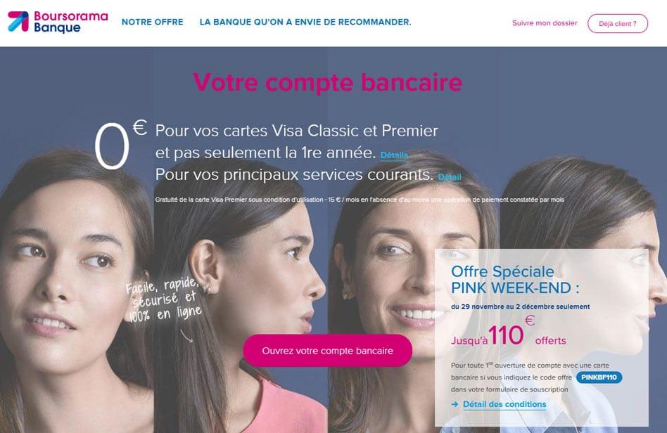 Boursorama offre exceptionnelle : 110€ offerts du 29 novembre au 2 décembre