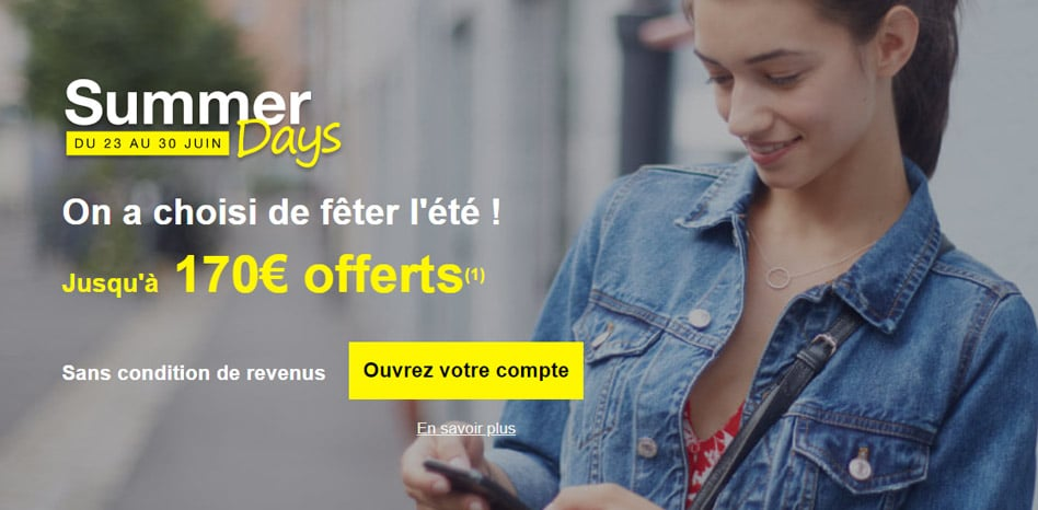 Monabanq offre exceptionnelle : 170€ offerts du 23 au 30 juin 2020