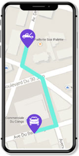 application-leocare-dépaneuse-géolocalisation-GPS