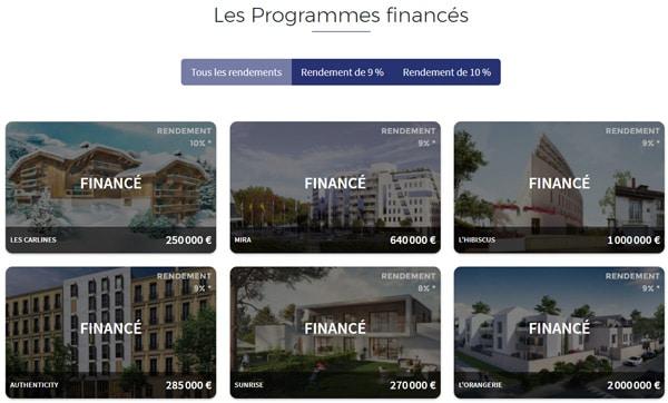 homunity programmes financement participatif immobilier